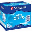 CD-R Verbatim DLP 80 min. 52xCrystal jewel box, 10ks/pack 43327